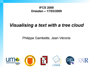 Visualising texts with tree clouds
